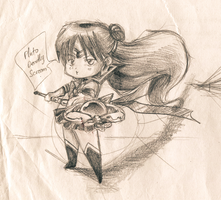 :Old Sketch: Chibi Sailor Pluto by AtlanticaXLighthousE