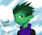 Beast Boy Colored Sketch by LinkSketchit