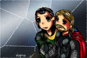 Movie Thor and Loki chibi by nupao