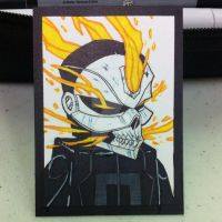 LEGO Ghost Rider sketchcard by thesometimers
