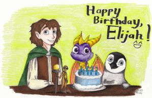 Happy Birthday, Elijah Wood by Madame-Kikue