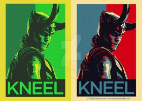 Kneel Before Loki Poster design by a745