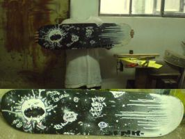 me and tha painted skate by noxiousone