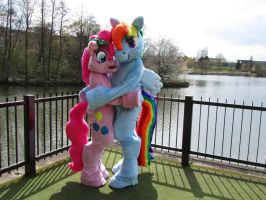 Pinkie Pie and Rainbow Dash at Kitacon 4 by KyoukaKami