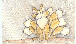 Six tailed fox by VanoNTP