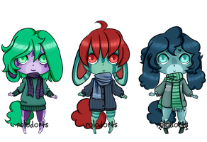 Winter Bunnies [closed] by DeadEndAdopts