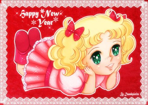 Candy Candy New Year's Card by Duendepiecito