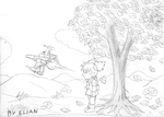 Flora old picture and X-Wing by jaycebrasil