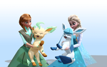 MMD Frozen-PKMN - Updated XY - Glaceon and Leafeon by LordBlackTiger666