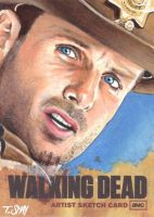 Rick Grimes- The Walking Dead Artist Proof Sketch by Dr-Horrible
