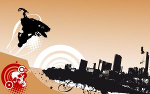 urban-freestyle-sled-wallpaper by loosy