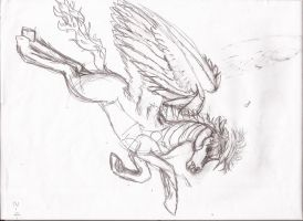 realistic rainbow dash diving towards the enemy by Pwnyville