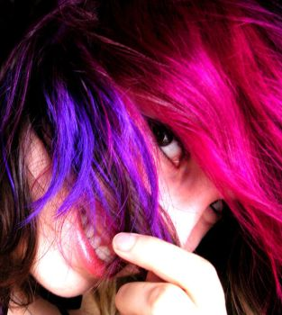 Pink and Purple Hair 3 by littlehippy