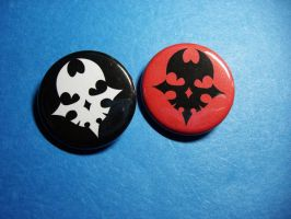 TWEWY Player Pins by vickinator