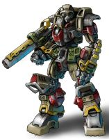 Skull mech Color by Morriperkele