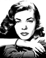 Lauren Bacall - Vectored 5 by musicgal3