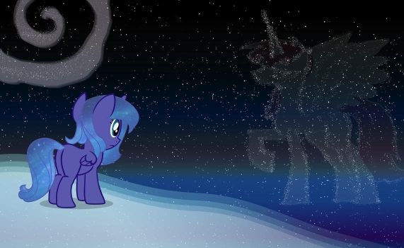Luna in wild space by OhPonyBoy