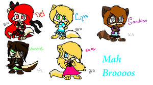 Mah Bros and sisters^^ by WaffIo