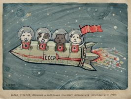 Shaggy cosmonauts by Redjuice