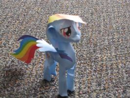 Rainbow Dash Papercraft -rough- by Flip-coB