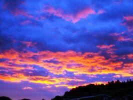 fire in the sky by nicelandscape