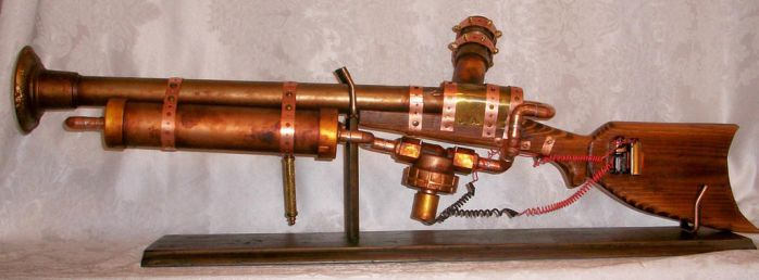 functional Steampunk rifle by Macabre151