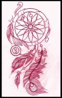 Dreamcatcher tattoo design by thirteen7s