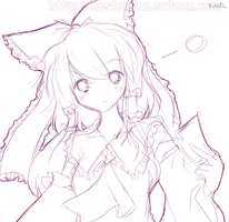 Sketch - Reimu by Kiotii