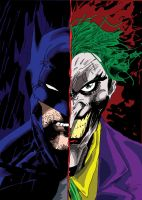 The Batman and Joker colored by carpediem101