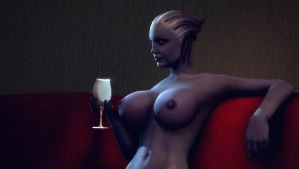 Liara Looks Into The Distance by Naughty-DemIsaK
