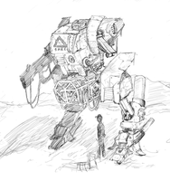 Mech Sketch by CotyP