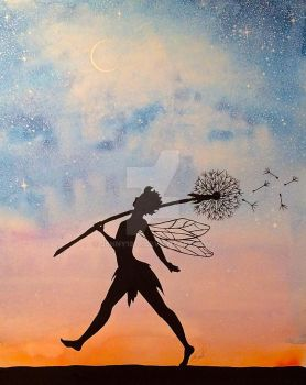 Silhouette Fairy by Jenny1978