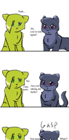 Silentpaw and Sandpaw: Or else by MiaMaha