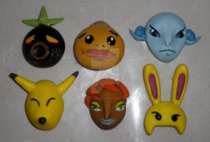 Clay LoZ OoT MM Masks by HeyLookASign