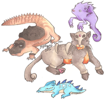 More Hybrid Pokemon by PinkMelodii