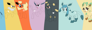 Eevee Evolutions Mlp Style by ppgmlpkndpokemongirl