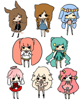 mini chibi batch by pinkbunnii