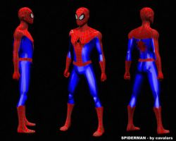 spiderman model sheet by cavalars