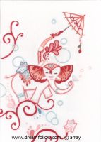 circus embroidery by merwing