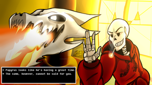 Papyrus Is Having A Great Time... (Underswap) by ChappieTriggerHappy