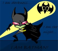 I AM BATMAN by flipsidered