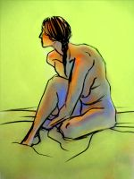 seated woman by MallonIllustration