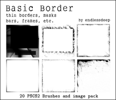 Basic Border Brushes by endlessdeep