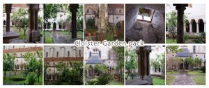 Cloister Pack III The Gardens by morana-stock