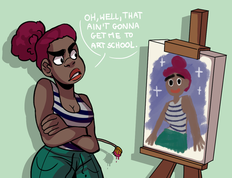 day 28: painting a portrait of herself by Yokiter