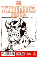 Thanos Sketchcover from Amazing Las Vegas Con 2015 by ElfSong-Mat
