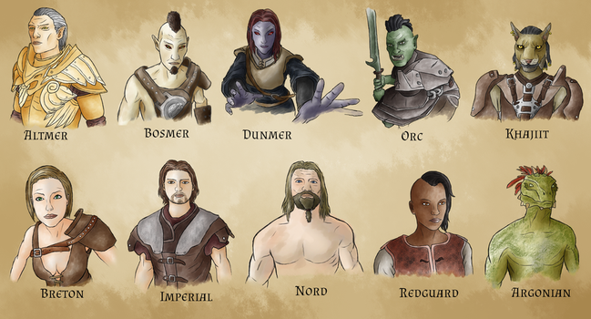 Races of Tamriel by Vinniiiiiii