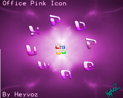 Office Pink Icons by Heyvoz