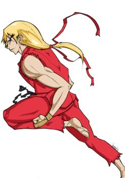 Ken Masters colored version by v3R5e