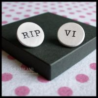 WICKEDLAND 'Death' Handmade Pin Badge Set by SugarAndSpiceDIY